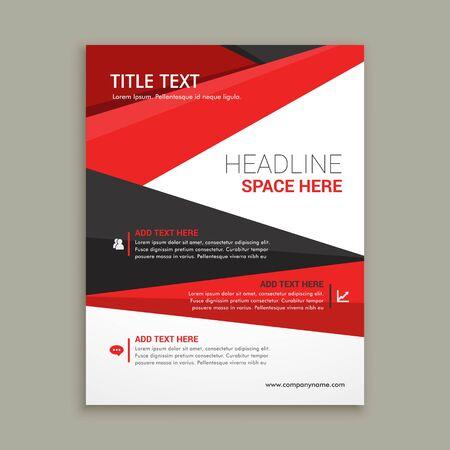 Illustration for creative brochure flyer design with vibrant colors template design illustration - Royalty Free Image