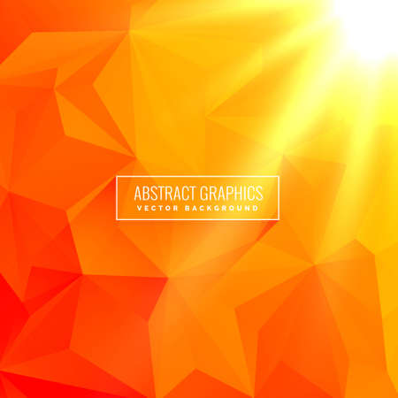 Illustration for abstract orange background made with geometrical shapes - Royalty Free Image