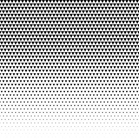 Illustration for triangle pattern design halftone vector - Royalty Free Image