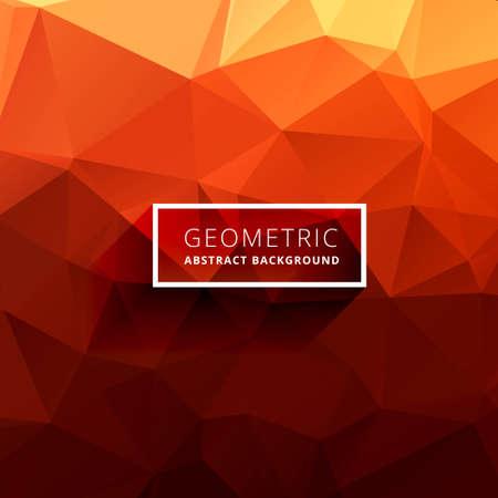 Illustration pour orange polygonal background - image libre de droit