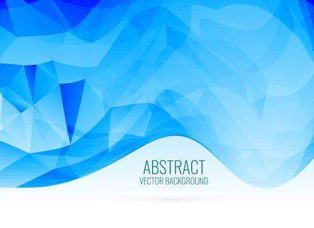 Illustration pour abstract blue wavy shape triangle background - image libre de droit