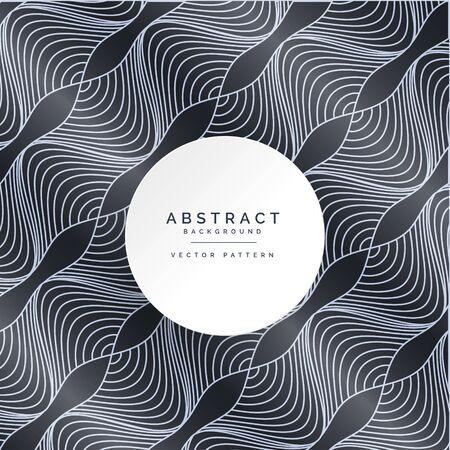 Illustration pour modern dark pattern with wavy lines - image libre de droit