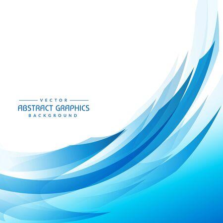Illustration pour blue abstract wave background - image libre de droit