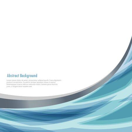 Illustration pour business background with abstract wave - image libre de droit