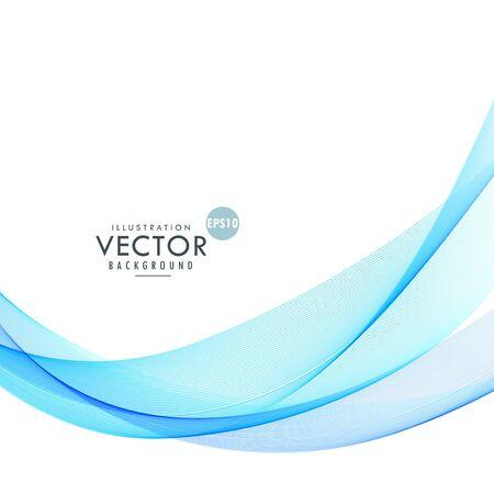 Illustration pour wavy shape blue background design - image libre de droit