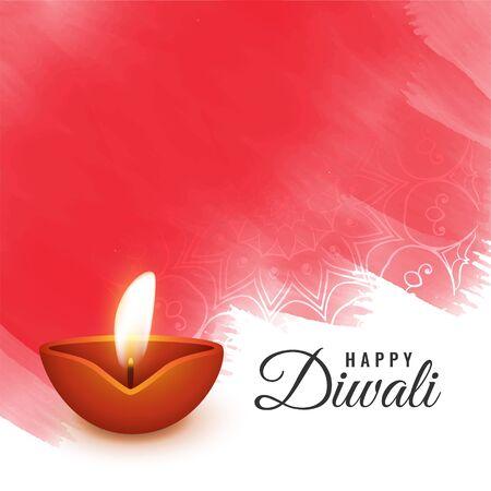 Illustration for artistic diwali festival background design - Royalty Free Image