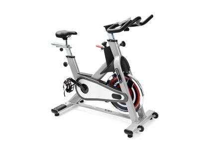 Photo pour gym equipment, spinning machine for cardio workouts - image libre de droit