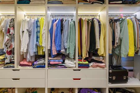 Photo pour Large womans wardrobe - image libre de droit