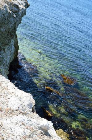 Foto de View from the rock on the Black sea - Imagen libre de derechos