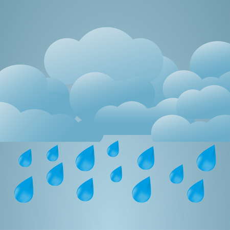 Illustration  of weather conditions. Heavy rainのイラスト素材