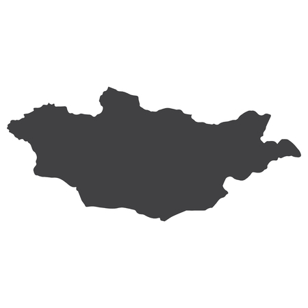 Mongolia map in black on a white background. Vector illustration