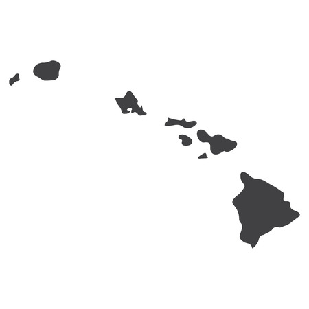 Illustration pour Hawaii state map in black on a white background. Vector illustration - image libre de droit