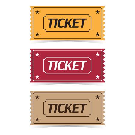 Illustration pour Set of movie ticket icons vector illustration. - image libre de droit