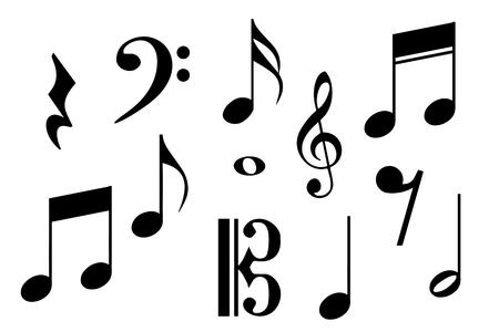 Illustration pour Big set of music notes. Vector illustration - image libre de droit
