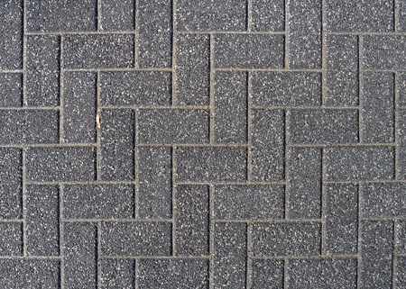 Photo for Background of gray cobblestone pavement. Top view. - Royalty Free Image
