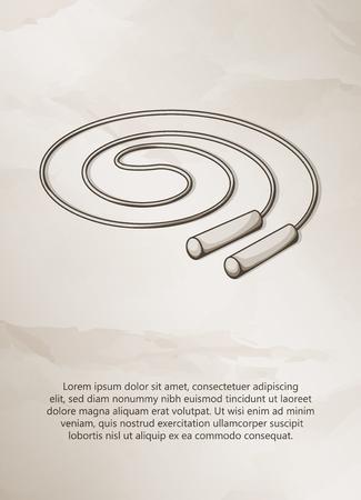 Skipping rope. Vintage Label, Logo, Frame, Brochures. Design Templates. Vector illustration.