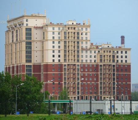 Modern apartment building, ulitsa Dybenko 8, St  Petersburg