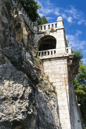 Detail of the staircase to the Gellert Hill  Budapest  Hungary