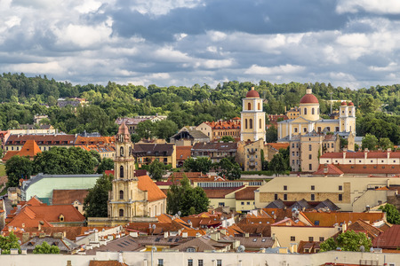 View of the Old Town. Vilnius. Lithuania.