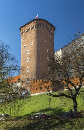 Senatorial Tower (Lubranka) - one of the three currently existing towers Wawel Castle, Krakow, Poland