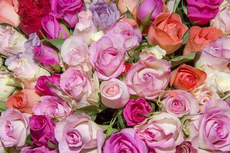 Photo pour Background of bouquets of flowers. Roses. Design. Close up. - image libre de droit