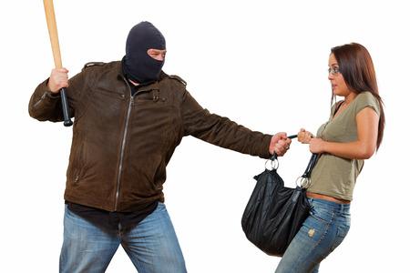 Isolated robbery scene