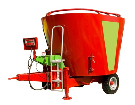 A mixer-wagon, or diet feeder, is a specialist agricultural machine used for accurately weighing, mixing and distributing Total Mixed Ration for ruminant farm animals, in particular cattle and most commonly, dairy cattle