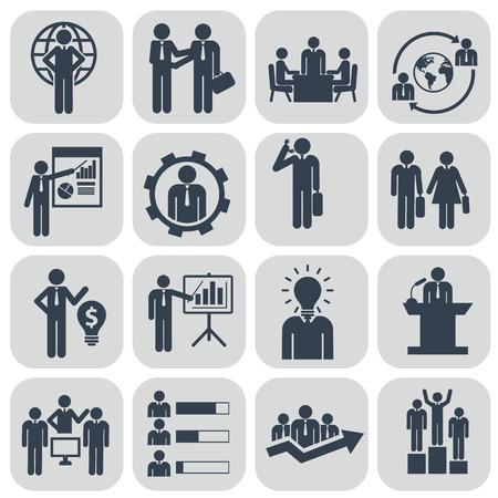 Foto de Human resources and management icons set. - Imagen libre de derechos