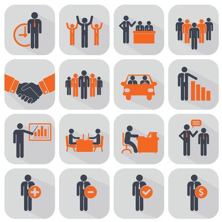 Vektor für Human resources and management icons set. - Lizenzfreies Bild