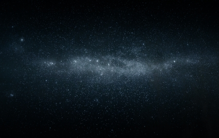 Wide angel photo of the milkyway starfield