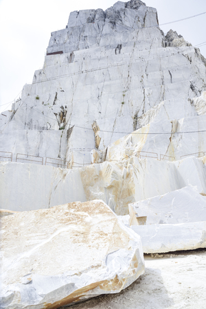Photo for quarry of the precious Carrara marble. Alpi Apuane, Tuscany, Italy - Royalty Free Image