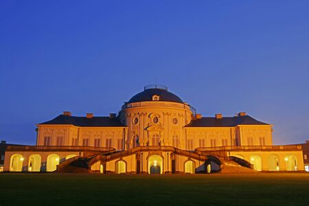 Illuminated Castle Solitude, Stuttgart, Germany