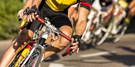 Photo pour Bicycle Race - image libre de droit