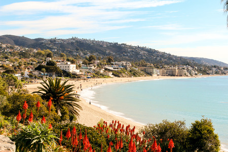 Laguna Beach coastline in Southern California