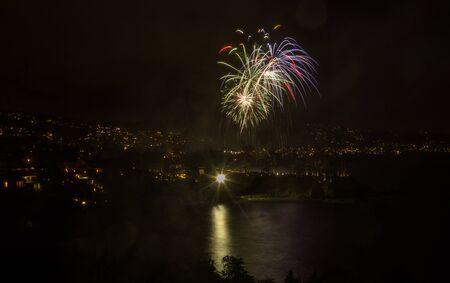 Laguna Beach fireworks city lights on the fourth of July celebration