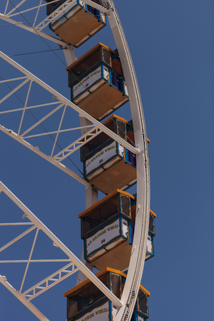 Costa Mesa, California, United States - July 16, 2016: Ferris wheel at the Orange County Fair in Costa Mesa, CA on July 16, 2016. Editorial use only.