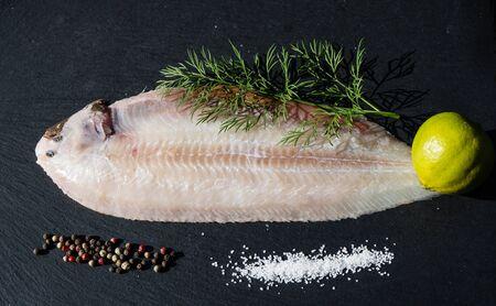 Photo pour The saltwater sole a delicious flatfish - image libre de droit