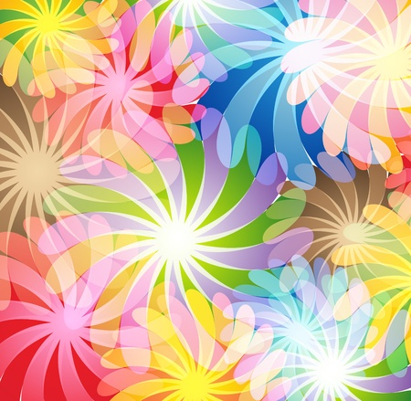 Bright transparent flowers  Abstract background