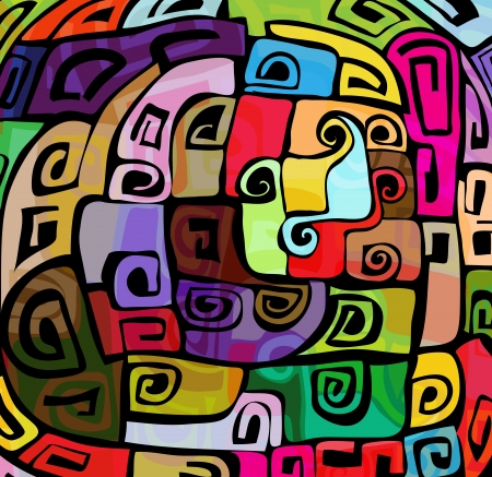 Illustration for Abstract colorful funky pattern - Royalty Free Image