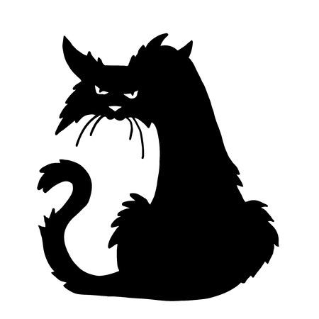 Illustrazione per Very high quality original trendy  vector scary halloween cat - Immagini Royalty Free