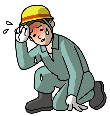 Heat stroke, worker,Hot weather bottom