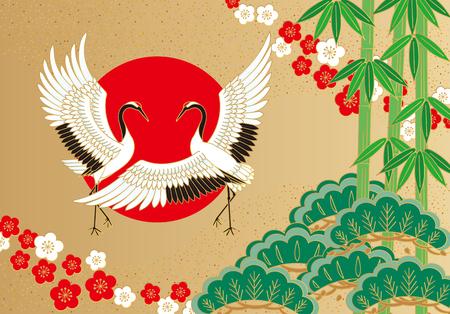 Ilustración de Cranes Auspicious - Imagen libre de derechos