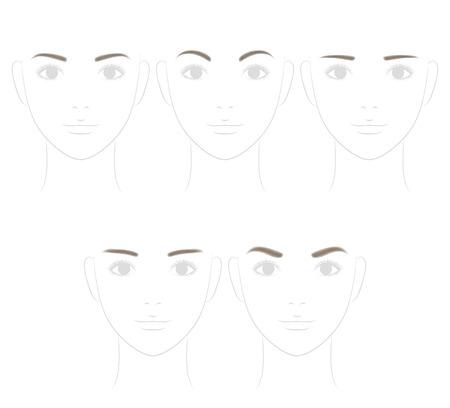 Photo pour Eyebrow shape. soft image. - image libre de droit