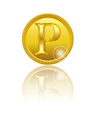 Illustration pour Gold points. coin. - image libre de droit