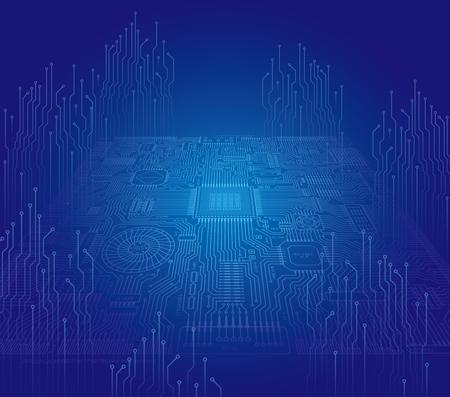 Photo pour Image illustration of board and electronic circuit - image libre de droit