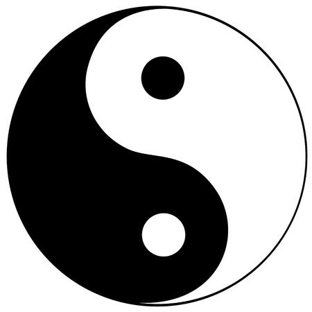 Ilustración de Ying yang symbol of harmony and balance - Imagen libre de derechos