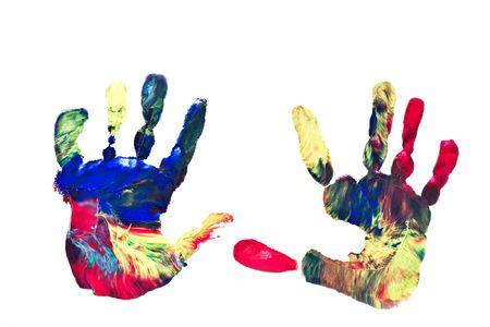 Actual Pair of Preschooler's Handprints