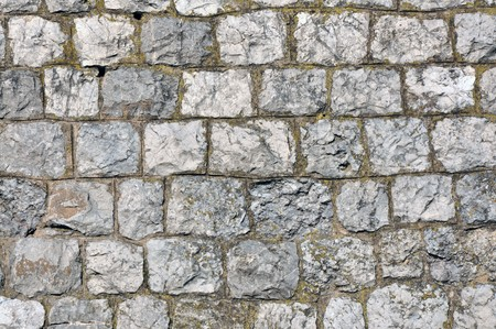 Background texture of cobblestone wall