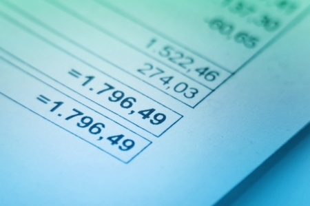 Close-up iamge of financial Invoice