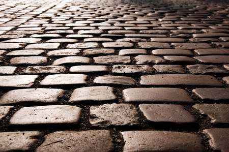 Cobble stone road pattern from Prague.